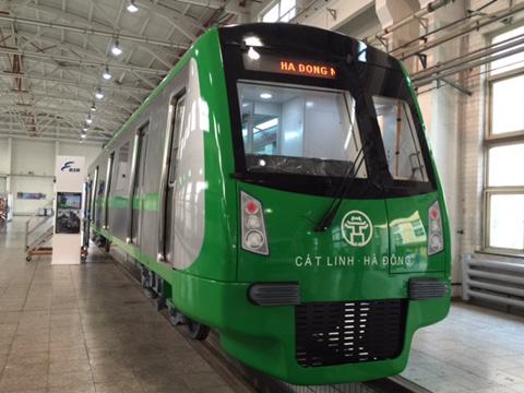 Công bố mẫu tàu TQ tuyến đường sắt trên cao